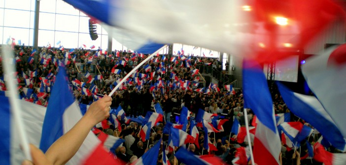 Meeting of candidate Sarkozy in Cernay, Alsace © French Moments