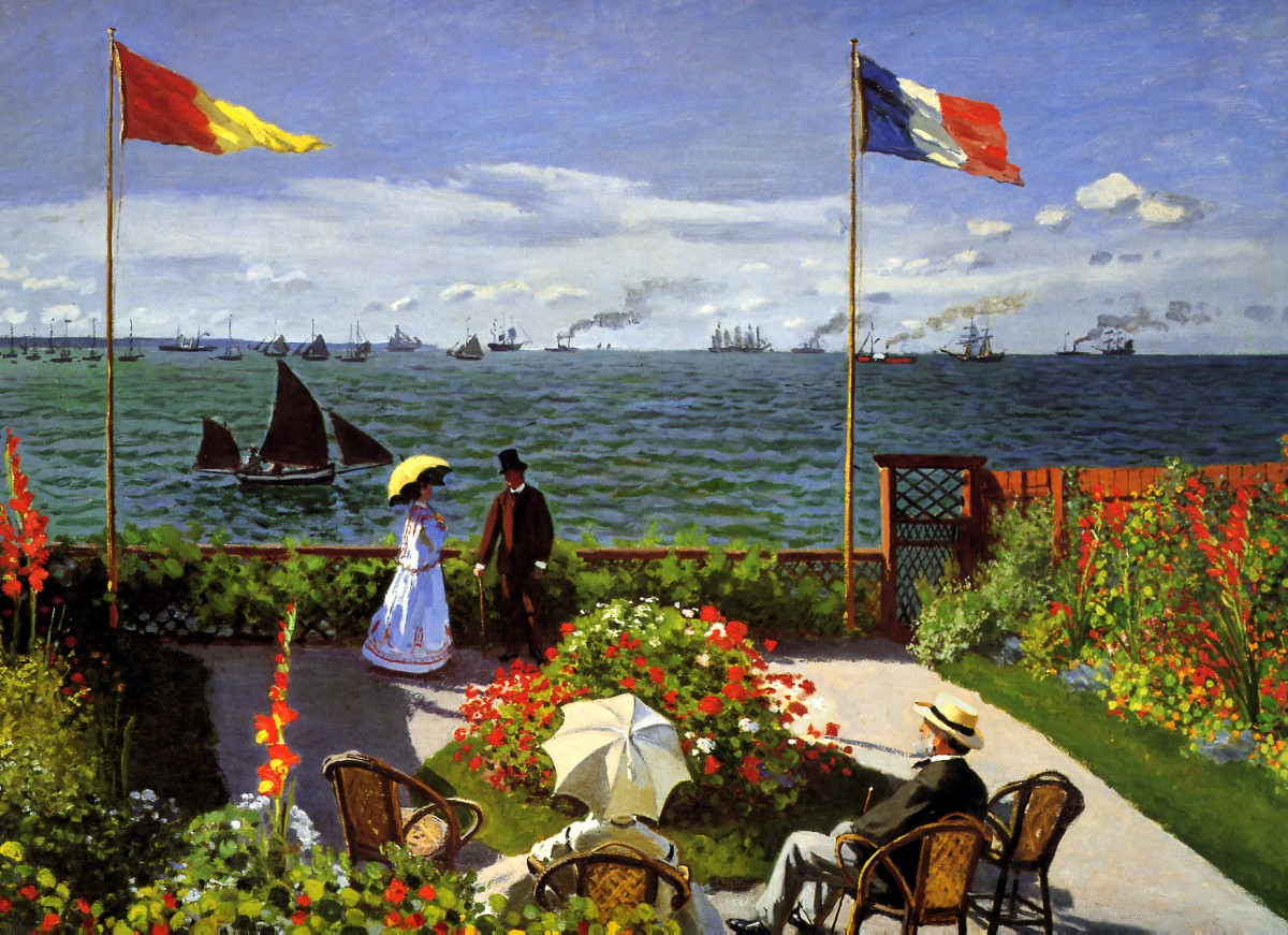 Terrace at Sainte-Adresse, Claude Monet 1867