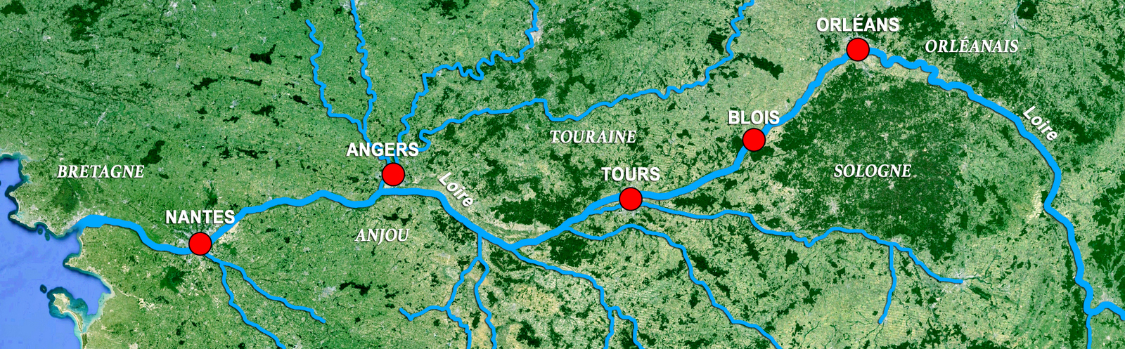 Loire Valley Map by French Moments