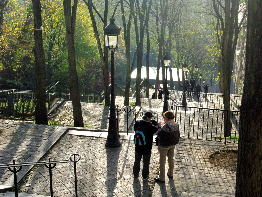 Stairs of rue Foyaltier in Montmartre © French Moments