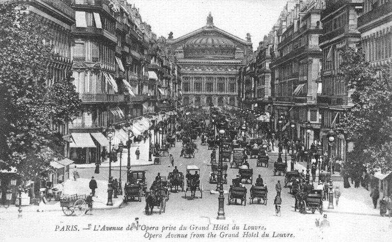 Avenue de l'Opéra circa 1900