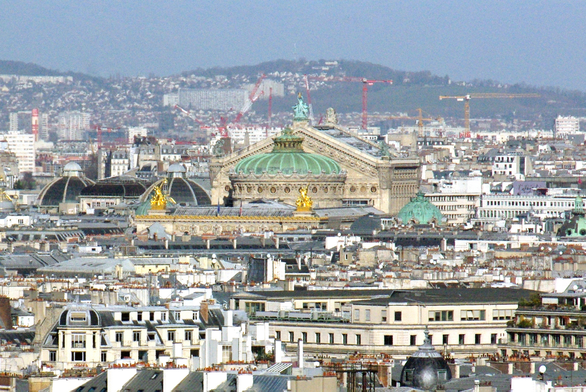 Palais Garnier viewed from Notre Dame copyright French Moments