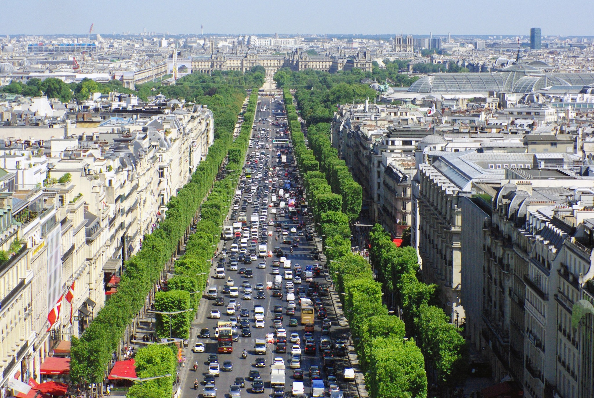View of Paris from Arc de Triomphe © French Moments