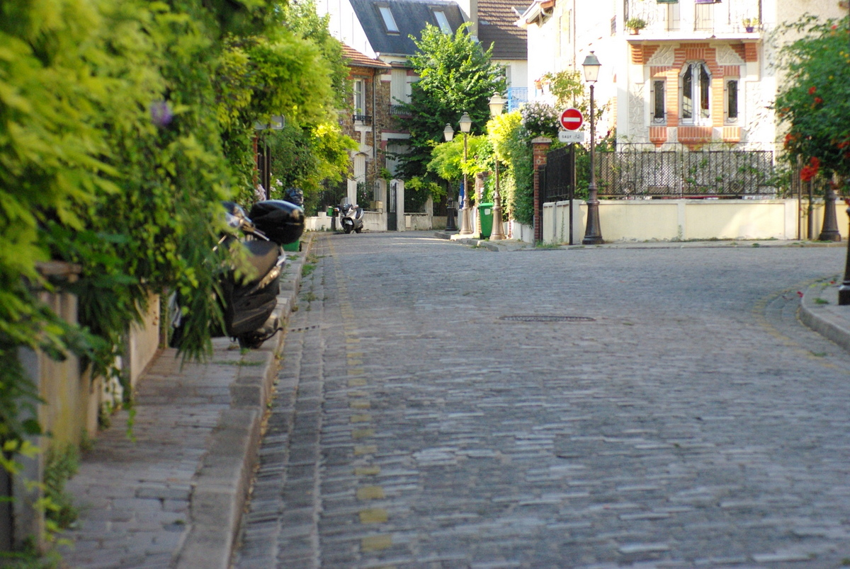 The paved street of rue Irénée Blanc © French Moments