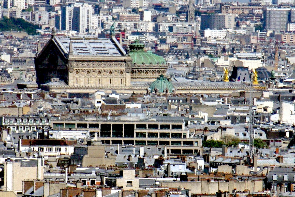 Palais Garnier viewed from Arc de Triomphe copyright French Moments