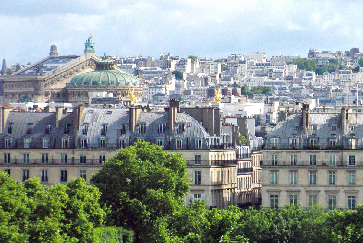 Palais Garnier viewed from Orsay Museum copyright French Moments