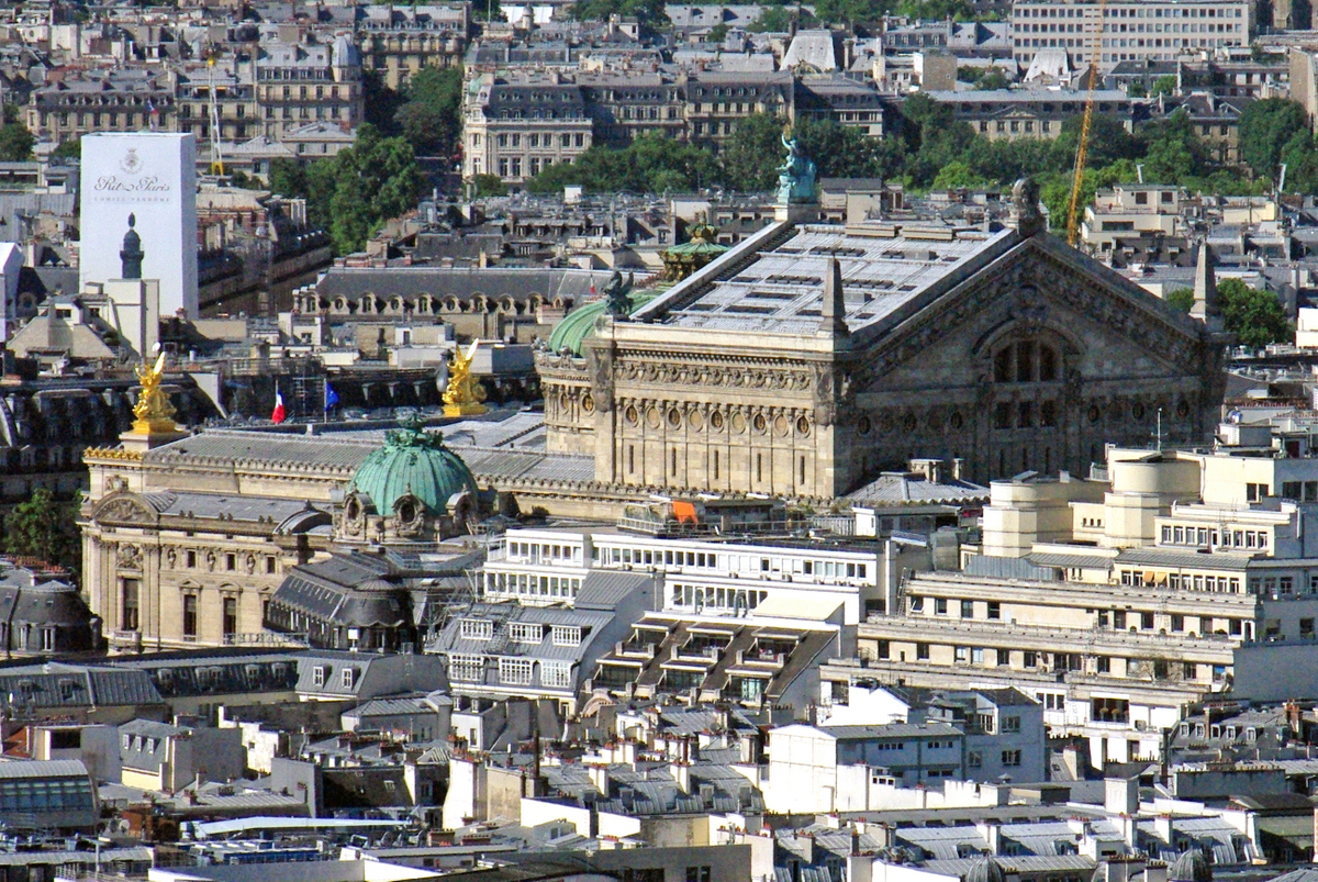 Palais Garnier viewed from Sacre Coeur copyright French Moments