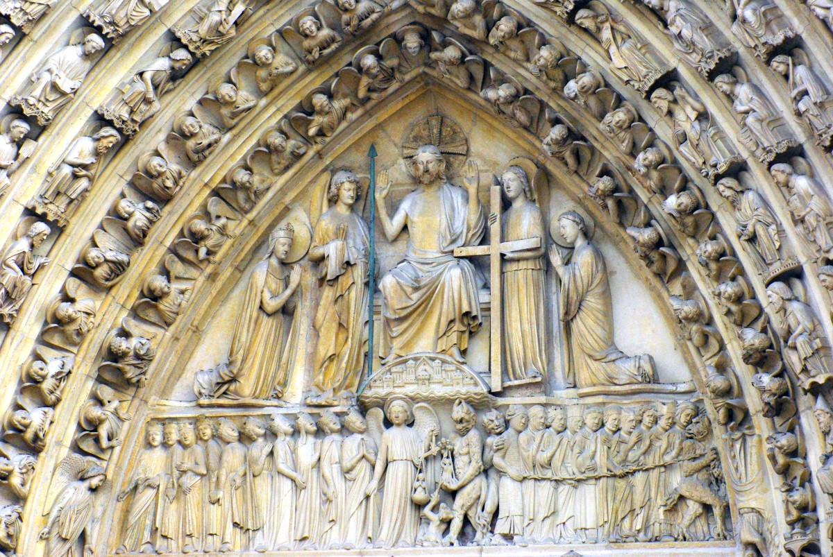 The tympanum of the Portal of Last Judgment Notre-Dame © French Moments