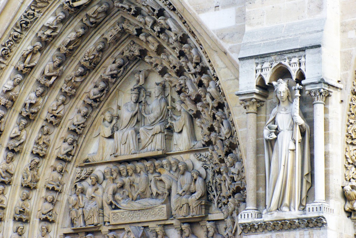 Tympanum Portal of the Virgin, Notre-Dame © French Moments