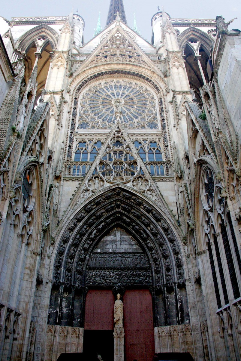 Portail des libraires (Librarians portal) and North Transept of Rouen Cathedral © French Moments