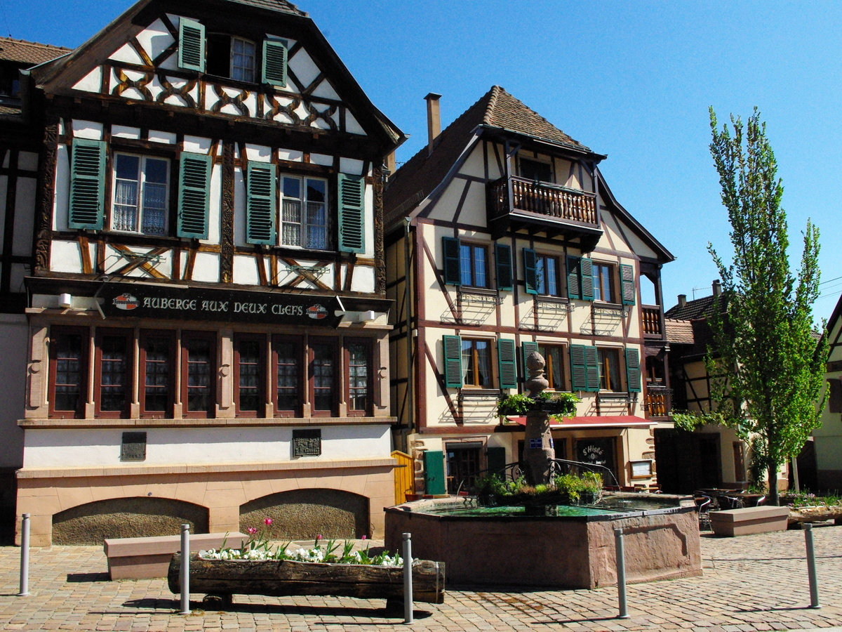 Half-timbered houses, rue du Général de Gaulle, Kintzheim © French Moments
