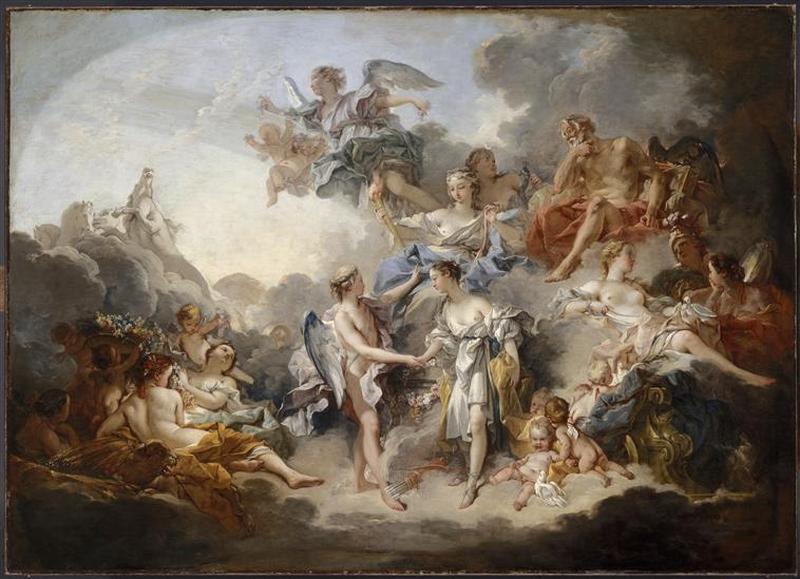 Le mariage de Psyché et de l'Amour by François Boucher