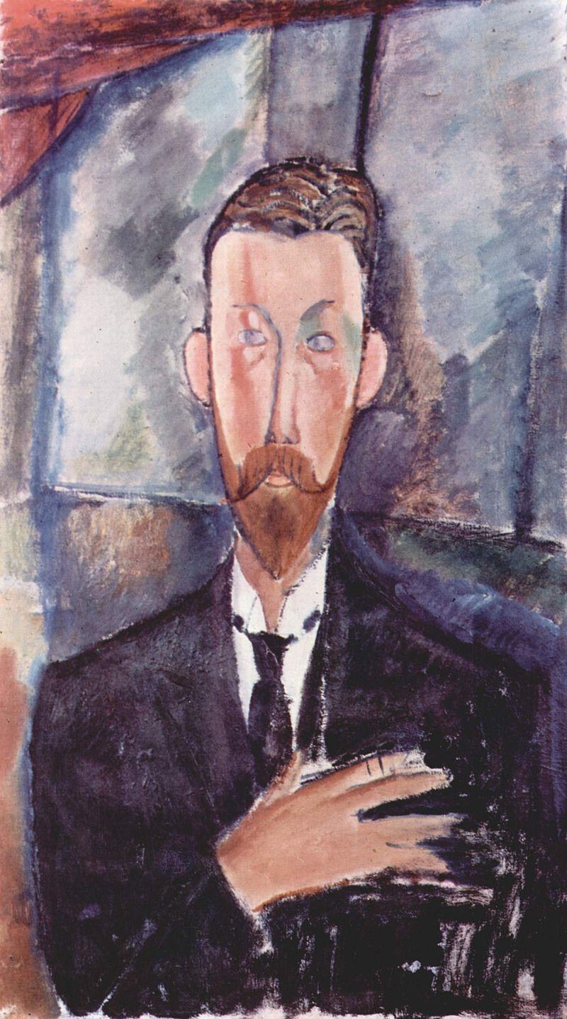 Paul Alexandre devant un vitrage by Amedeo Modigliani