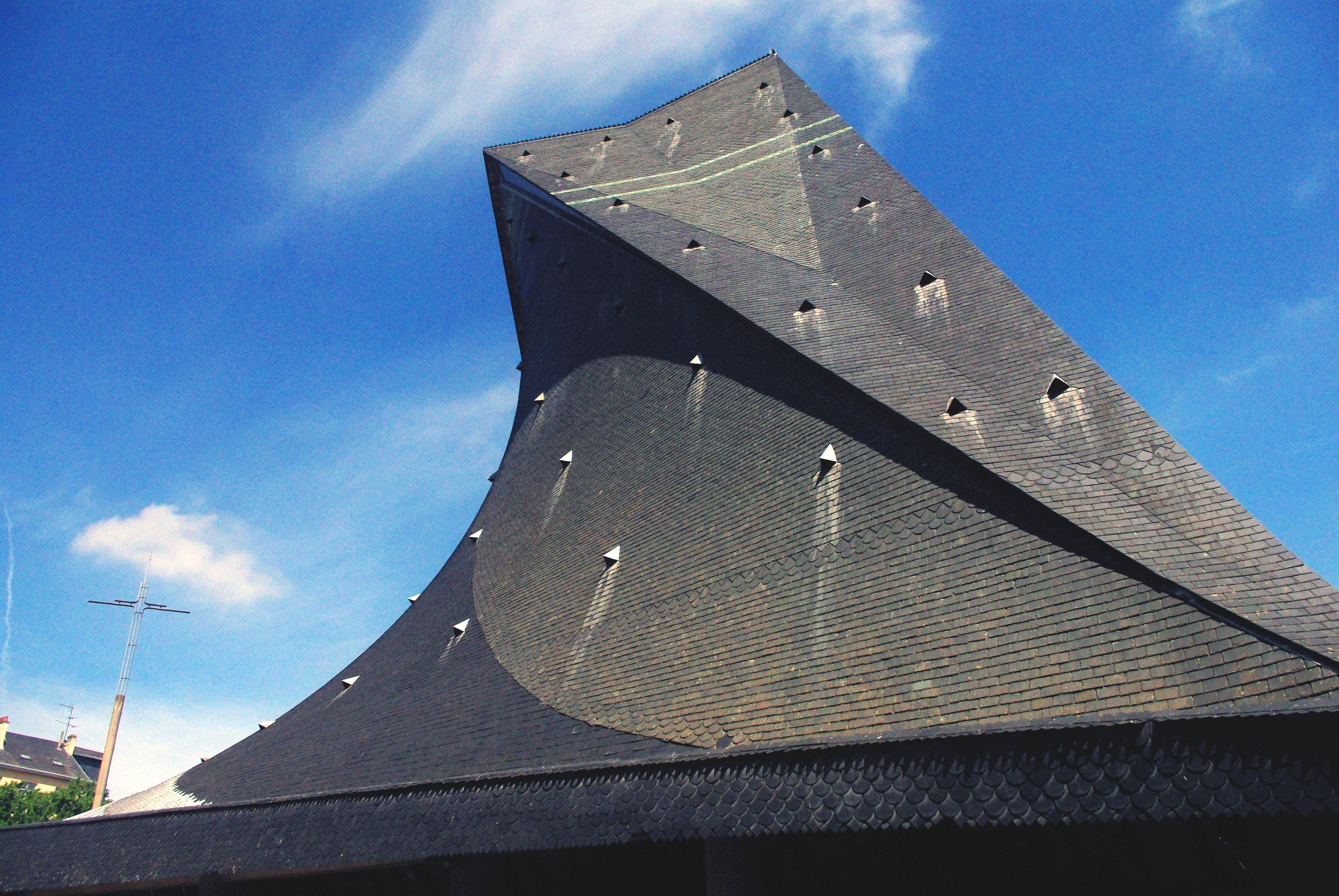 Roof of Saint Joan of Arc Church copyright French Moments