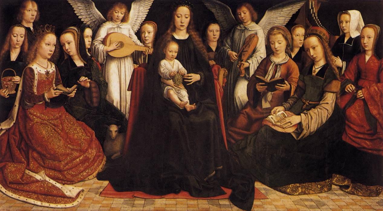 The Virgin among the Virgins by Gerard David