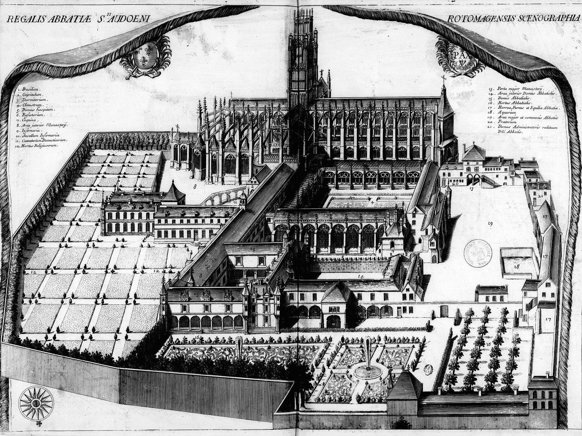 Abbey of Saint-Ouen in the 17th century
