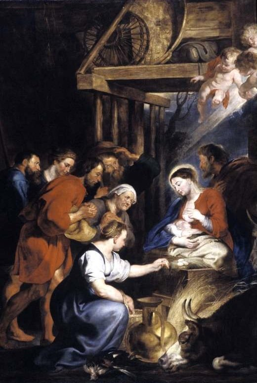 Adoration of the shepherds by Rubens