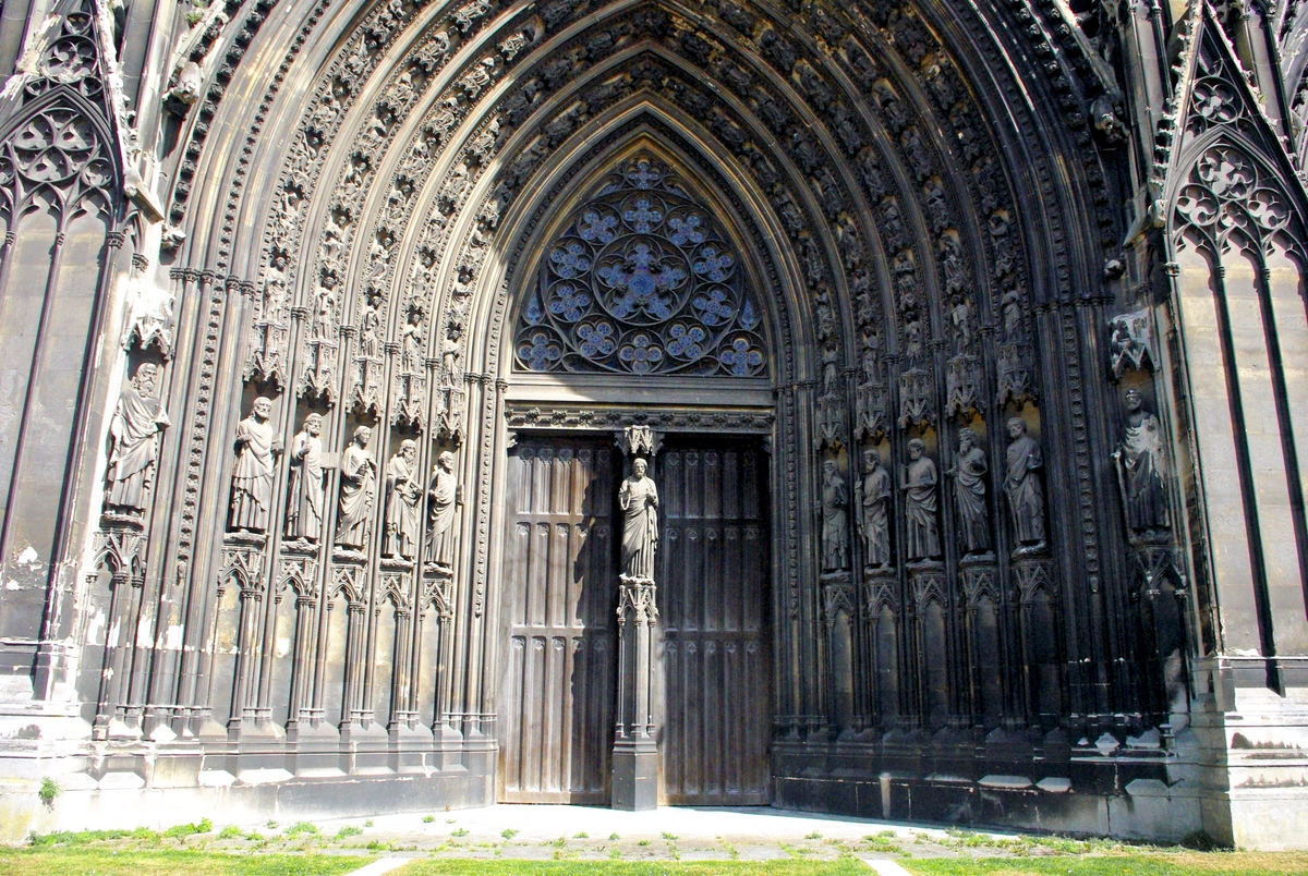 Central Portal of Saint Ouen Abbey Church in Rouen copyright French Moments
