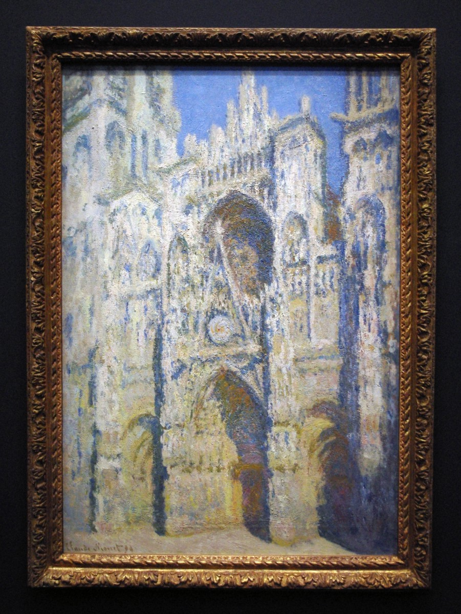 Rouen Cathedral painted by Claude Monet on display at the Orsay Museum Photo by French Moments
