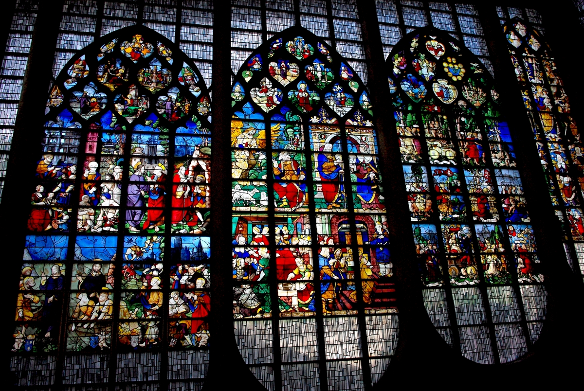 The stained-glass windows inside St Joan of Arc Church, Rouen © French Moments