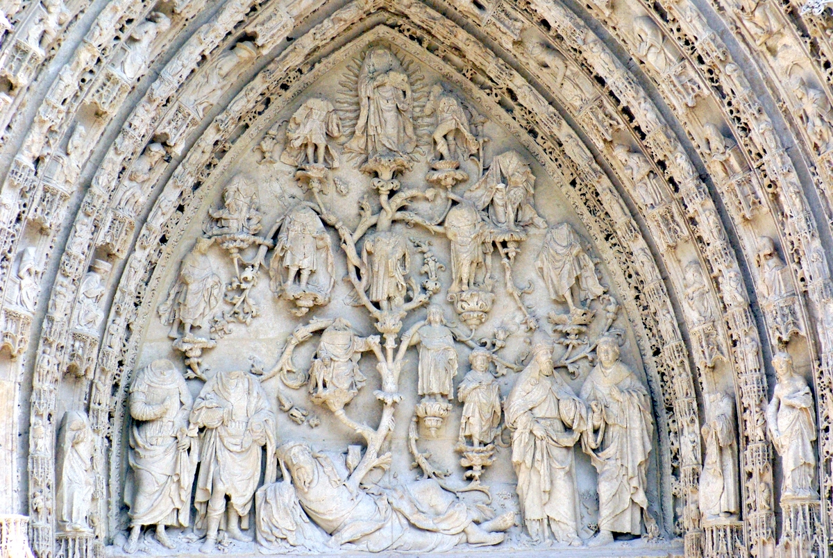 Tympanum of Portal Notre Dame Rouen Cathedral copyright French Moments