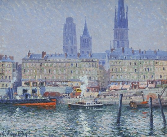 Rouen Cathedral and Rouen from the Left Bank by Charles Fréchon