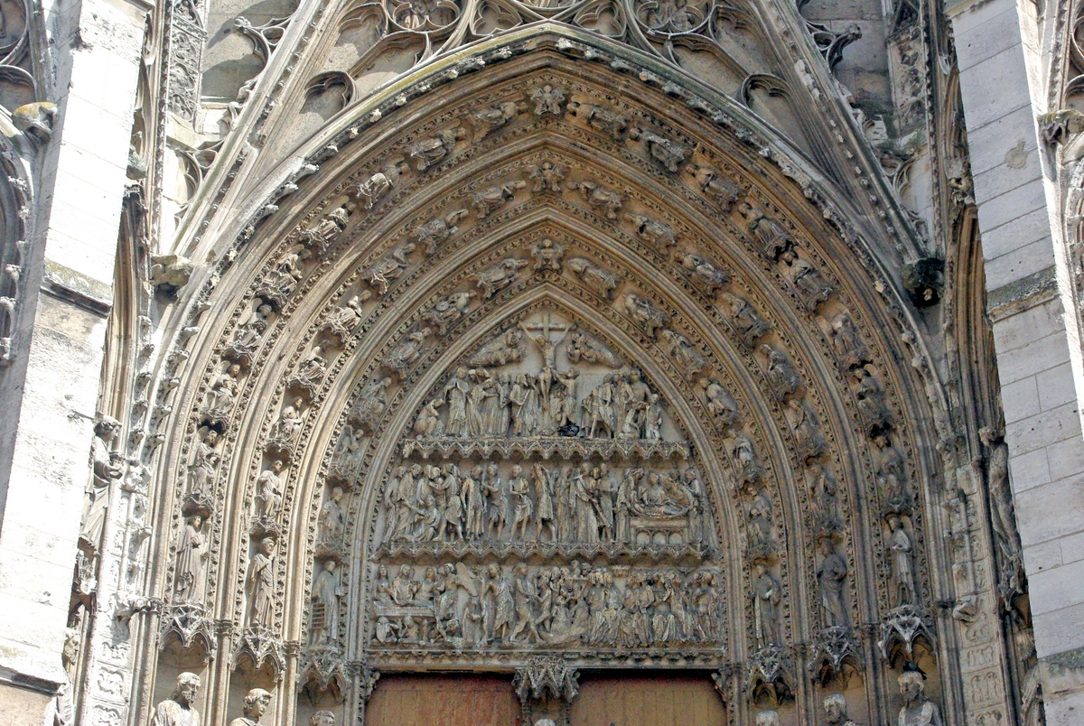 Tympanum of south transept portal in rouen cathedral - Portail ac rouen ...