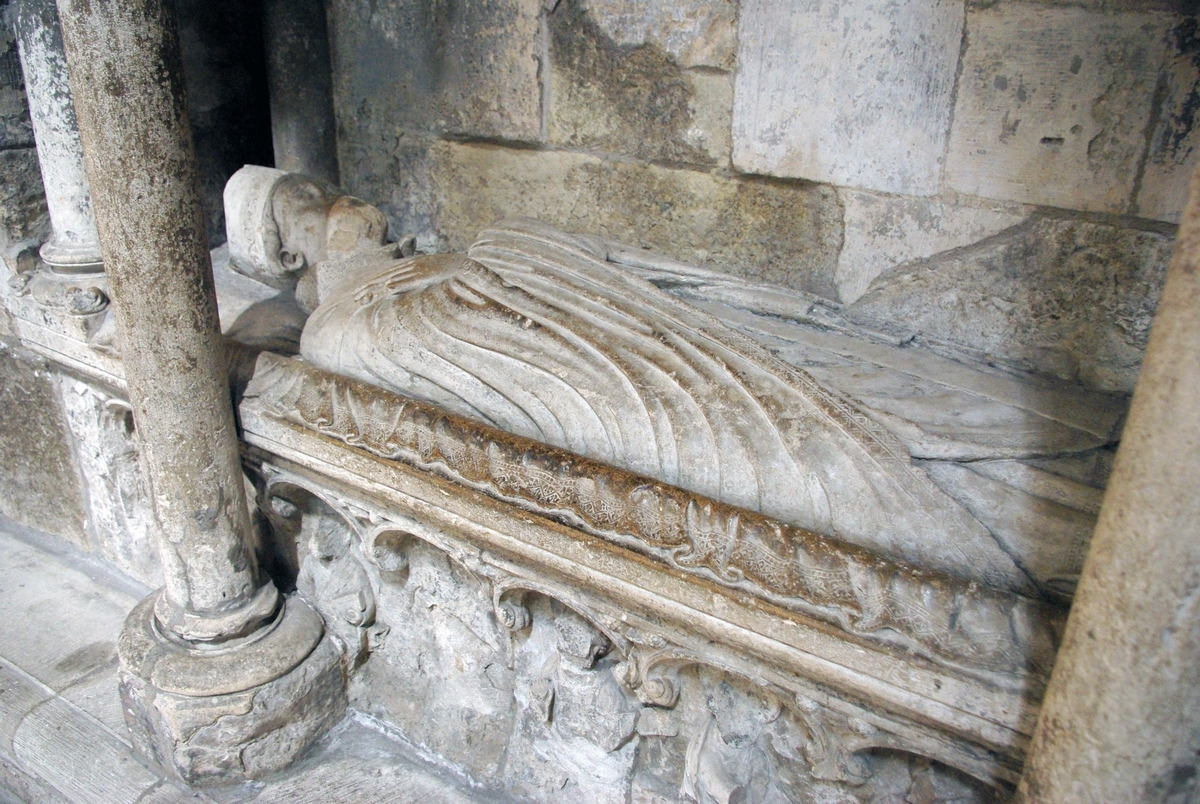 Hugh of Amiens Recumbent Statue in Rouen Cathedral © French Moments