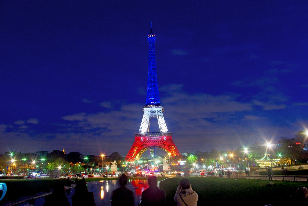 Eiffel Tower Blue White Red Paris 10 © French Moments
