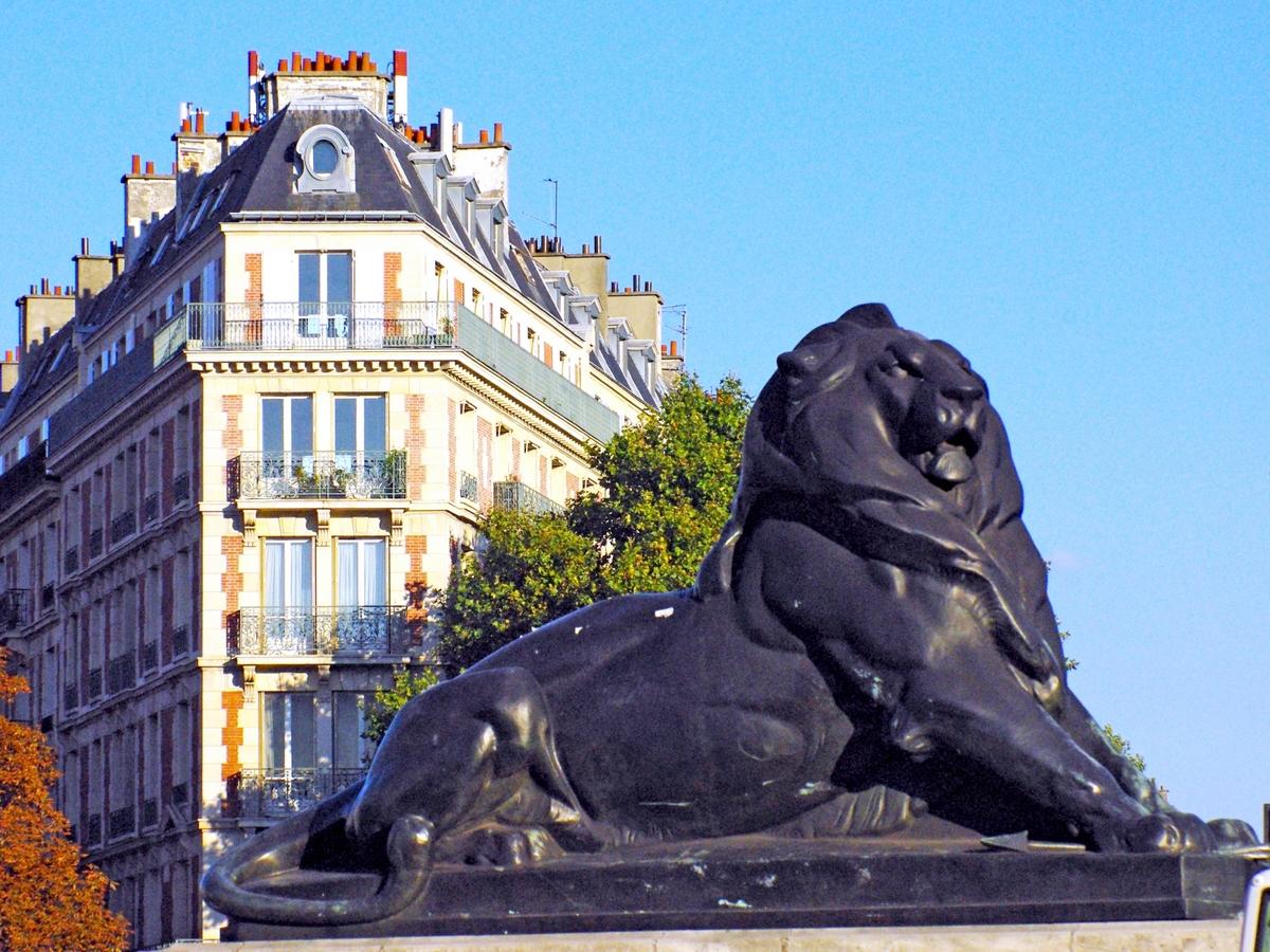 Lion of Belfort in Place Denfert-Rochereau in Paris © French Moments