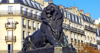 Lion of Belfort in Place Denfert-Rochereau in Paris © French Moments