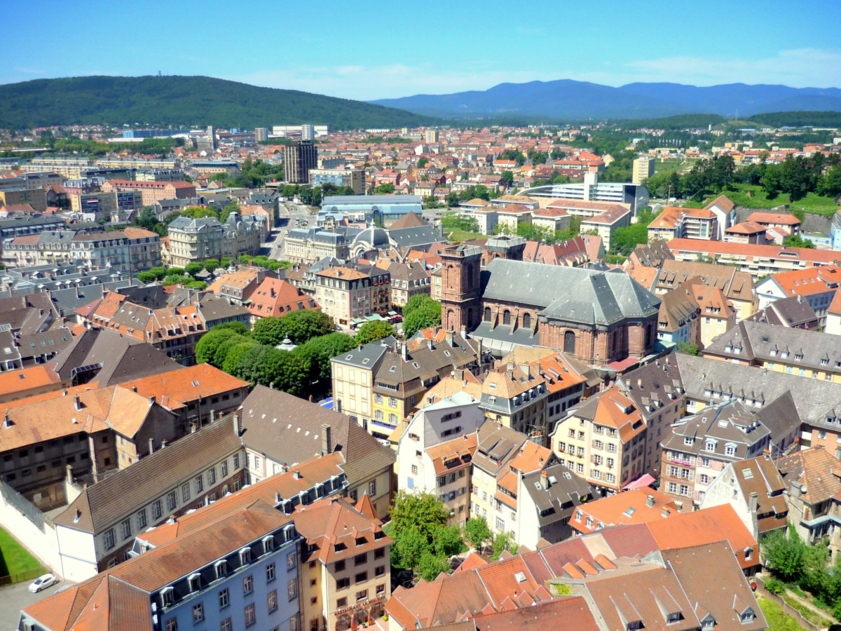 The city of Belfort seen from the Citadel © French Moments