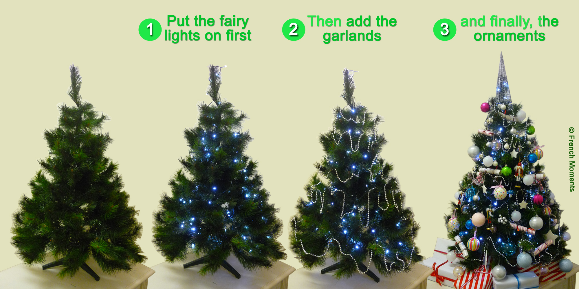 Christmas Tree Decorating Stages © French Moments