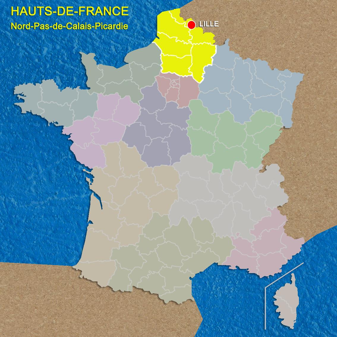 Hauts-de-France Map © French Moments
