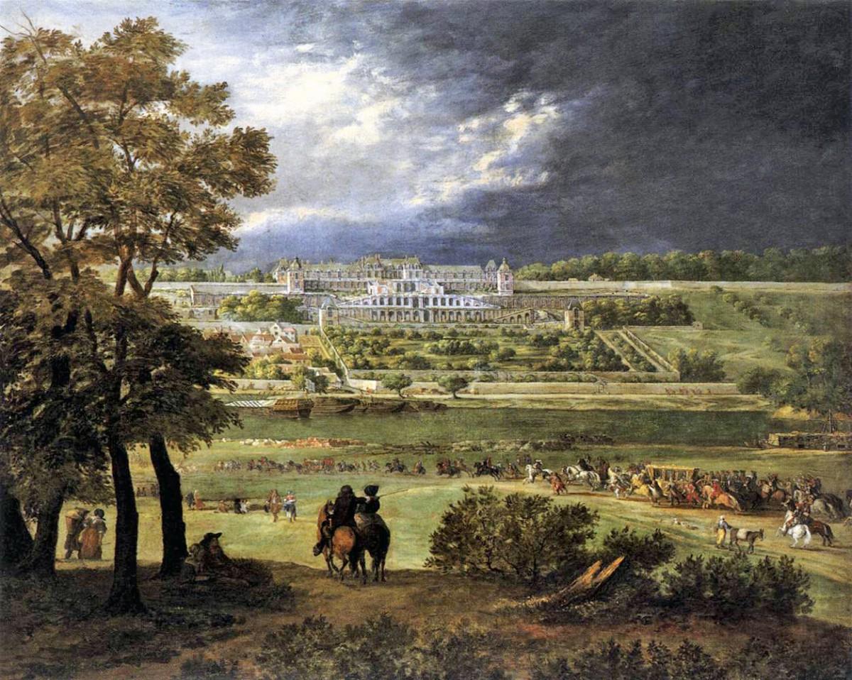 Château-Neuf of Saint-Germain-en-Laye, painting by Adam Frans van der Meulen