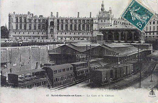 The railway station of Saint-Germain-en-Laye in the 19th c.