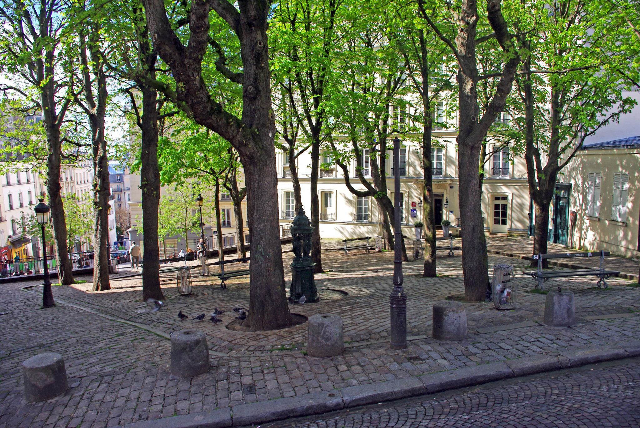 Place Emile Goudeau Paris in the Spring © French Moments
