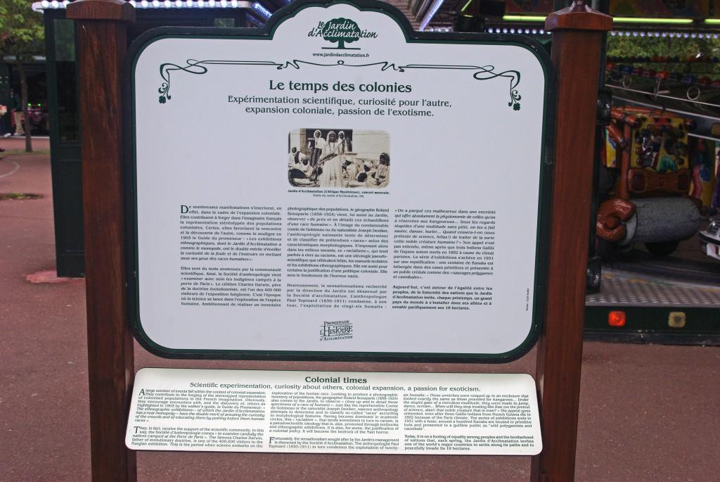 Commemorative Plaque at the Jardin d'Acclimatation Paris © French Moments