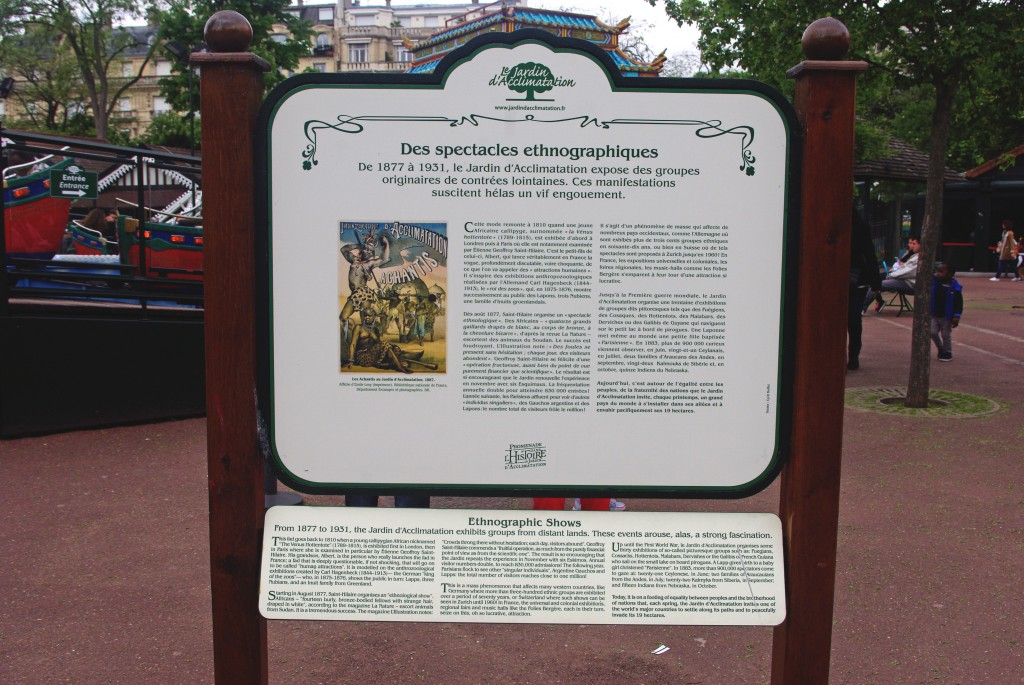 Jardin d'Acclimatation was a human zoo: Commemorative Plaque © French Moments
