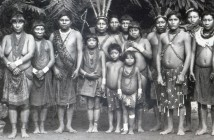 Jardin d'Acclimatation was a human zoo - Ingenious people from the French Guiana exhibited at the Jardin d'Acclimatation in 1892