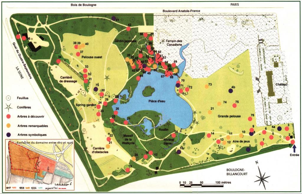 Map of Parc de Boulogne