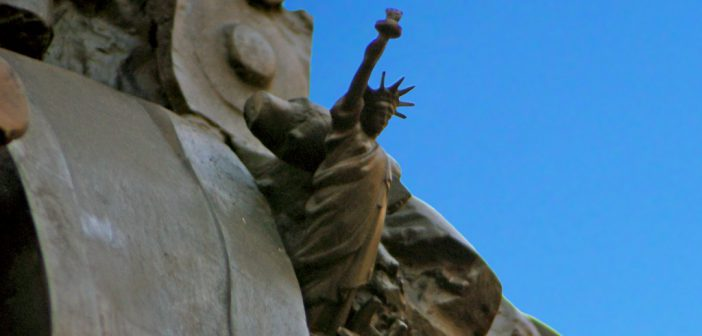 Statue of Liberty hidden in Paris