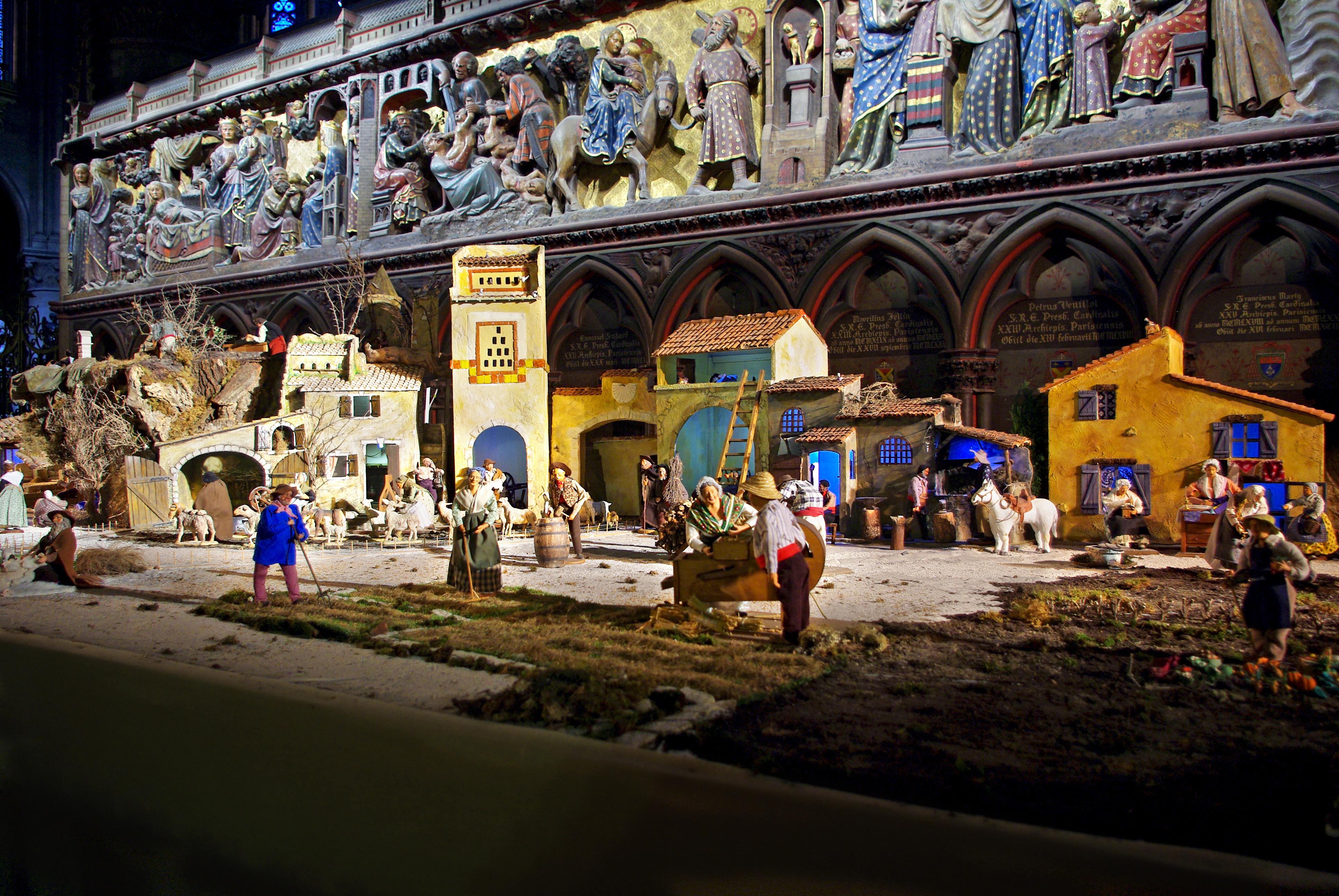 Nativity scene at Notre-Dame Paris 2016 2017