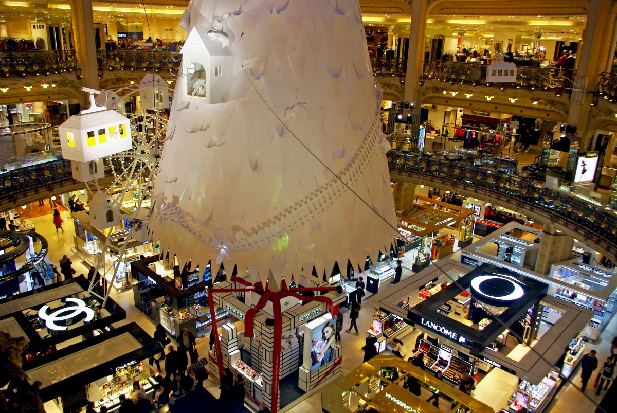 Galeries Lafayette Christmas Tree Paris