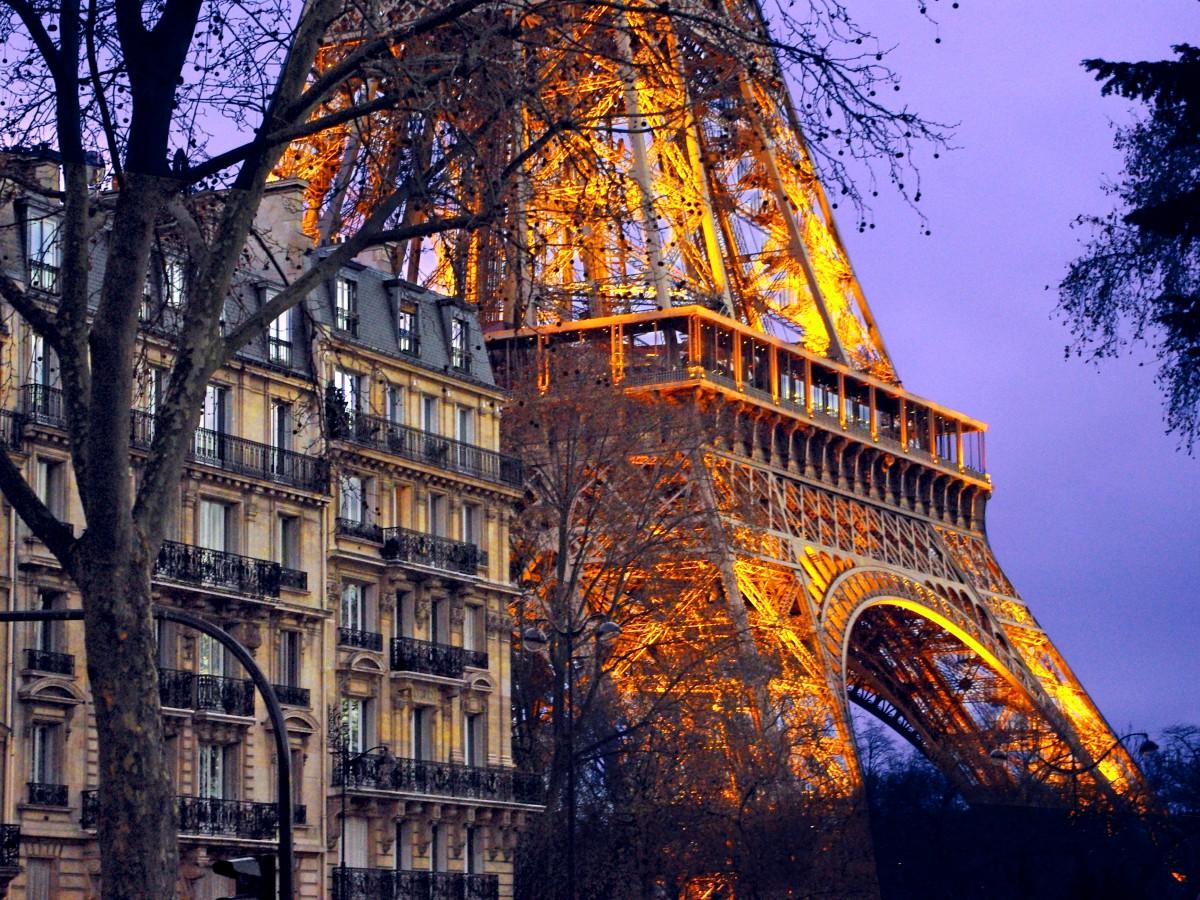 Eiffel Tower Quai Branly Paris