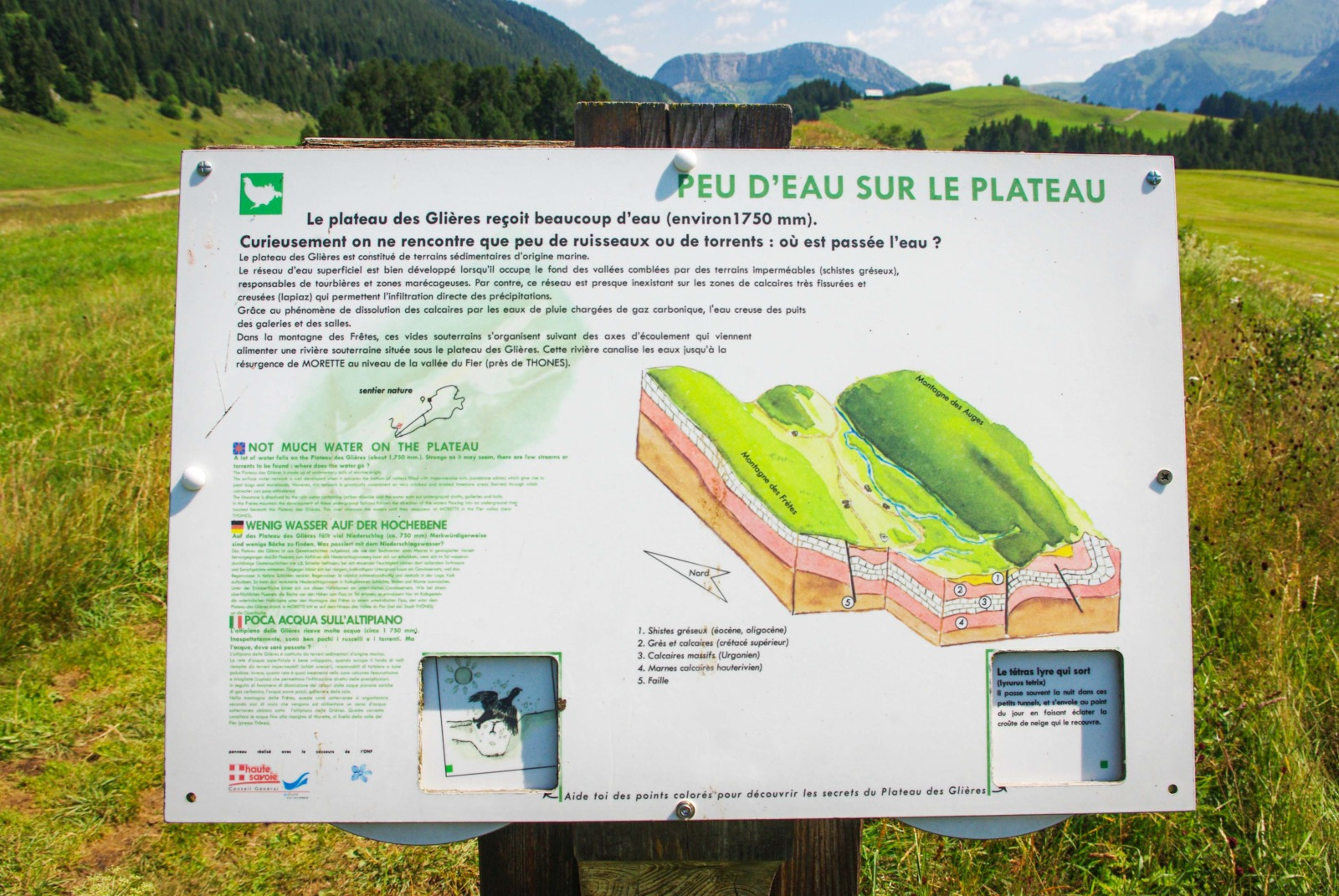 Informative panels along the Sentier Nature © French Moments