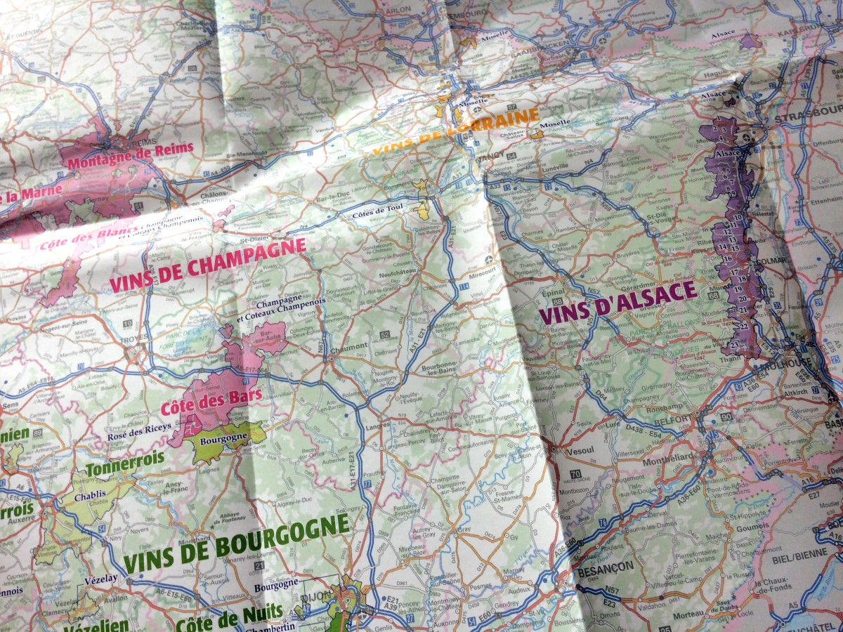 IGN Wines of France Map