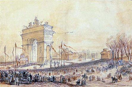 Retour des Cendres at the Arc de Triomphe