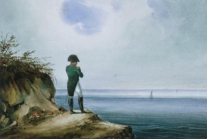 Napoleon on St. Helena, watercolor by Franz Josef Sandmann 1820
