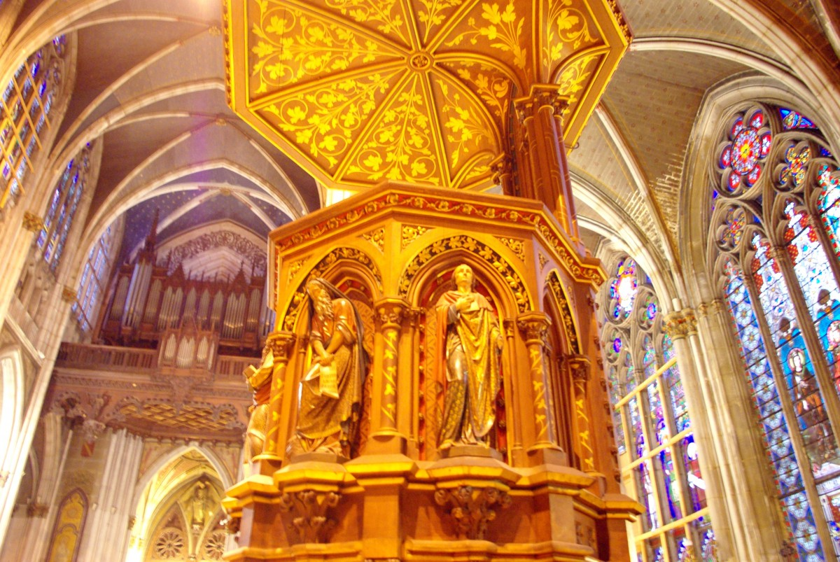 Pulpit, St. Epvre church, Nancy © French Moments